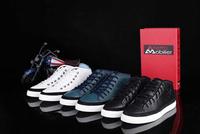 Wholesales McQueen 100% Genuine Leather High Top Men Shoes Men Fahsion Sneakers