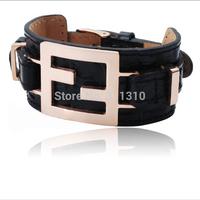 B014360B    Femininas Men   Leather Bracelets Bangles New 2014 Designer Bijoux Handmade Bijoux