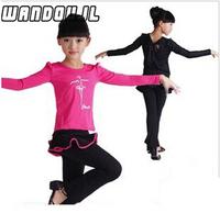 Children long-sleeved suit Latin skirts Latin dance suit new Latin dance clothing