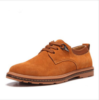 2014 Spring and Autumn suede leather men's casual shoes low shoes Board Shoes Genuine leather size 38 ~ 47