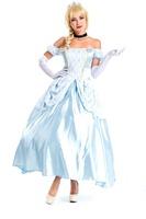 Fancy Dress Adult  Queen Princess Belle  Cinderella   Costume Halloween  Costumes  For  Adult Women   Cosplay  Carnival Costumes