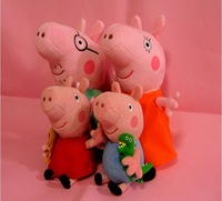 2014 brand new 4 pieces baby kids plush peppa pig family toys peppa pig plush toys george pig dolls anime peppa pig toys