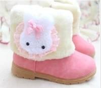 2014 winter snow boots plus velvet baby girls  Foot length 12 ~ 18cm