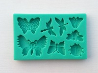 Wholesale 3D silicone cake mold,10Pcs/lot Butterfly shapes cake chocolate candy jello silicone decorating tools