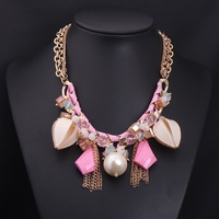 New Fashion Brand Collar Choker Necklace Vintage Long Colorful Crystal Flower Women Statements Necklace Free Shipping NK1398