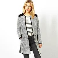 L2915 Autumn and Winter Coat Women Wool Outerwear Wool Coat Women Medium-Long Coat Wool Coat 2014 new fashion women's knit coat