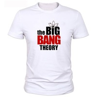 Free Shipping new arrival The Big Bang Theory  Pattern Short Sleeve T-Shirt  for men 100% Cotton S-XXL plus size  fast delivery