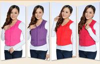 Free Shipping new Casual vests women's casual vests warm women vest 2014 girls vests XXXL 3XL 4XL plus size casual