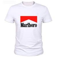 100% cotton marlboro  Printed T-shirts, men's short sleeves t shirt fashion 2014   casual t shirt tee   plus size