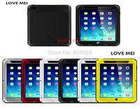 New Fashion Original Love Mei Aluminum metal Waterproof powerful Gorilla Glass case for iPad mini 2  Free Shipping