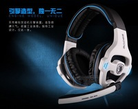 High Quality Sades SA - 903 7.1 channel professional gaming headset mic & remote control headphone bass earphone for Pc Game