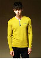 Free shipping 2014 new winter men's knit sweater bottoming shirt