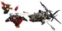 NEW Bela Super heroes series Avengers Batman Helicopter airship Minifigures Building Blocks Sets Legoland Educational Toys