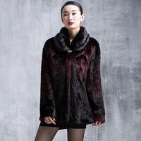 New Fashion Plus Size Fall Winter Warm Luxury Overcoats Ladies Elegant Mink Fur Outerwear Polish Jacket Women's Fur Coat  A168