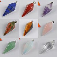 Free shipping Mixed Stone Lapis,Red Agate,Amethyst,Tigereye,Unakite,Quartz Pendant GEM Jewelry