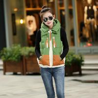 2014 New Brand Winter Coat Fashion Women/Girl Students Vest Coat Casual Gift Parka Short Down Jacket L-XXL YY0616