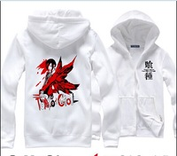 Free shipping Tokyo Ghoul Cosplay Costume Kirishima touka thicker zipper hooded sweater  jacket
