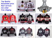 Ice Hockey Jerseys Chicago Blackhawks Jerseys #19 Jonathan Toews Jersey white red third balck ice skull 2013 Stanley Cup Finals