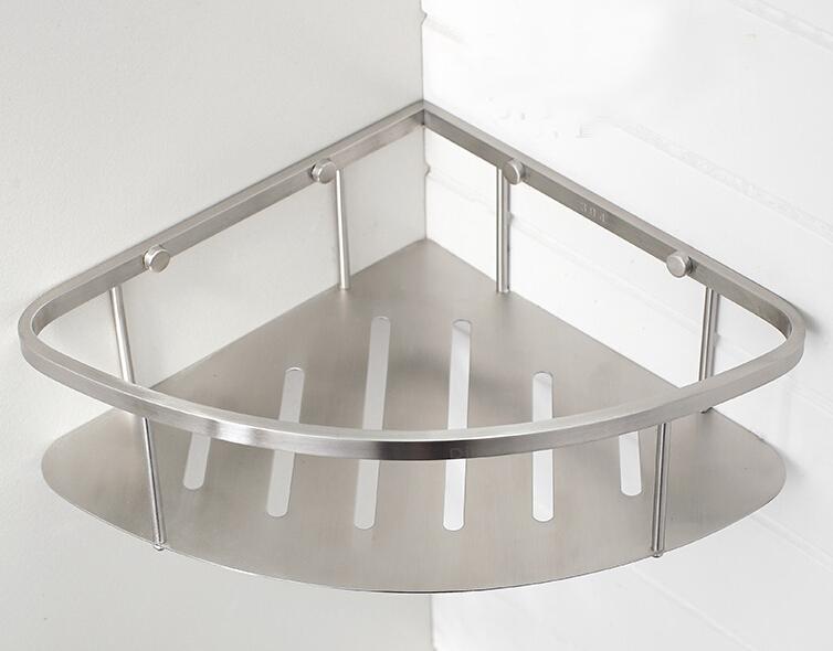 Brushed Nickel Corner Shower Shelves Shower Ideas