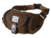 Men Canvas Waist Packs Fanny Purse Fashion Multifunctional Chest Pack High Quality Casual Small Sling Bag HENGLI 2 Colors