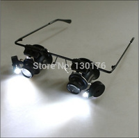 2014 New Dental Loupes Loupe Factory Direct Binocular Type Led Lamp with A Watch Repair 9892a 20 Times X Wearing Magnifier