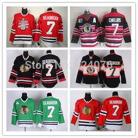 Chicago Blackhawks Jerseys Ice Hockey Jerseys #7 Brent Seabrook Jersey red green third balck 75th anniversary Stanley Cup