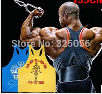 Gym bodybuilding tank top men Professional bodybuilding sports vest  Summer training ferret out the word cotton undershirt