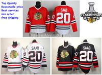 Chicago Blackhawks Jerseys Ice Hockey Jerseys #20 brandon saad jersey white red black jersey 2013 Stanley Cup champion