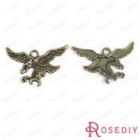 (28378)Vintage Charms & Pendants 26*43MM Antique Bronze Alloy Eagles 100g,about 22 pcs