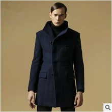 Brand Men Wool Jacket Winter Thicked Long Designer Coat Slim Fit High Quality Double Breasted Outwear Size M-3XL 4 Color A0397