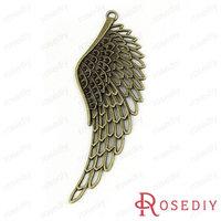 (28374)Vintage Charms & Pendants 107*37MM Antique Bronze Alloy Big Wings 100g,about 6 pcs