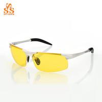 Newest Top Quality Design Polarized Anti Glare Night Vision Glasses,Male Aviation Alloy Polaroid Oculos De Visao Noturna G362