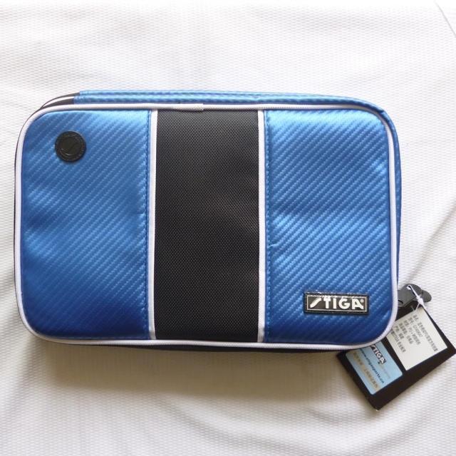 Stiga PU Table Tennis Racket Case Bat Wallet Luxury Blue - Your Best Choice(China (Mainland))