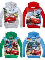 Cartoon long-sleeved sweater autumn Kids Hooded Sweater t-shirt car 95