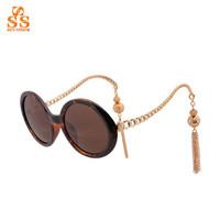 Super Deal Brand Design Vogue Decorative Tassels Pendant Earrings Sun Glasses,Retro Fashionista Circular All-match Sunwear,G364