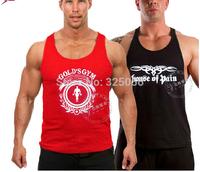 MEN bodybuilding tank top gold's gym VEST  shoulder straps genuine Basis  men's SPORT VEST