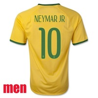 Customize 10 NEYMAR jersey soccer 2014 PELE T.SILVA shirts OSCAR David soccer jersey Thai Version High Quality A+++ free ship