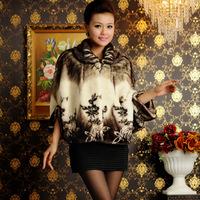 Winter Warm Luxury Overcoats Ladies Elegant Mink Fur Jacket New Fashion Women's Fur Outerwear Cape Coat A201 2015 Plus Size