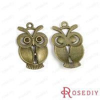 (28379)Vintage Charms & Pendants 34*21MM Antique Bronze Alloy Owl 100g,about 32 pcs