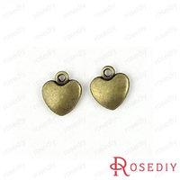 (28354)Vintage Charms & Pendants 12*10MM Antique Bronze Alloy Heart 100g,about 95 pcs