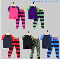 2014 New arrive Girls boys Pajamas Sets Kids Summer Clothing Set Children Casual short Sleeve Sleepwear boys clothes 5sets/lot