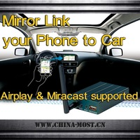 Mirrorlink Car adapter Compatible with iphone Airplay mirror & Andorid miracast ,Universal for any Car Audio with AV-IN