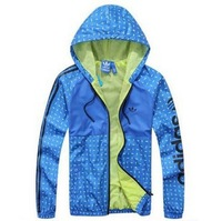 Hot sales wholesale 2014 NEW spring/autumn Fashion new men's sports jacket hooded jackets Windbreaker coats L-4XL