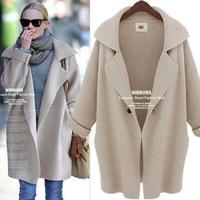 2014 European Winter Knitted Cardigans Warm Woolen Coat Winter Jacket Tops Outerwear overcoat