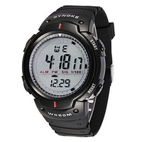 SYNOKE Men's Fashion Digital Waterproof Sport Wristwatch with Alarm Clock Stopwatch LED