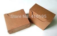 Free shipping wholesale50pcs/lot 10*9*5cm 350g kraft paper soap packaging box,tea packaging box