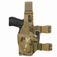 Tactical universal leg holster army drop leg holster leg rig tactical thigh leg pistol gun holster pouch military patrol combat