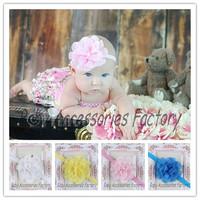 Wholesale 50pcs Infant Elastic Headband Baby Chiffon Flower Headband Newborn Flower Hair Band Baby Christmas Hair Accessories