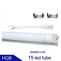 free shipping T5 led tube 300MM 4.5W AC85-265V 440LM 22led SMD2835 warranty 3 years 50pcs/lot