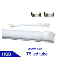 free shipping T5 led tube 300MM 4.5W AC85-265V 440LM 22led SMD2835 warranty 3 years 50pcs/lot